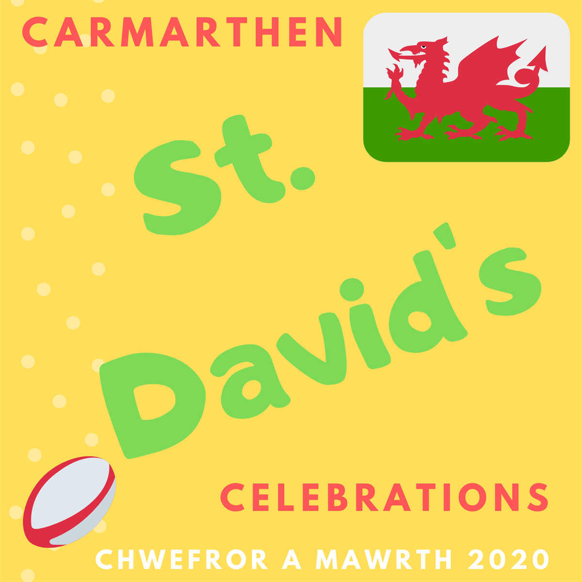 Carmarthen St Davids Celebrartion 2020 poster